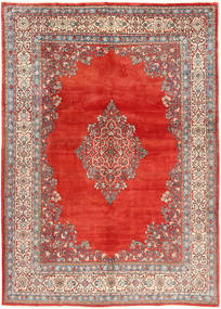 Sarouk Rug 272X380 Authentic  Oriental Handknotted Brown/Rust Red Large (Wool, Persia/Iran)