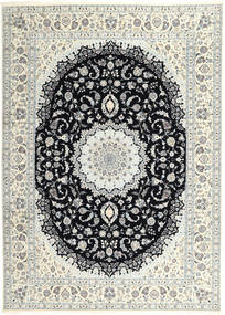 Nain 6La Rug 250X340 Authentic  Oriental Handknotted Light Grey/Dark Grey/Beige Large (Wool/Silk, Persia/Iran)