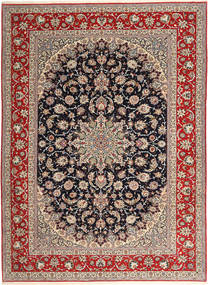 Isfahan Silk Warp Rug 265X363 Authentic  Oriental Handknotted Light Grey/Dark Red Large (Wool/Silk, Persia/Iran)