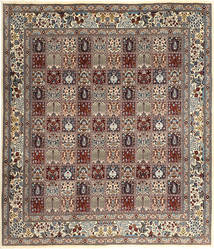 Moud Rug 255X295 Authentic  Oriental Handknotted Light Brown/Dark Brown Large (Wool, Persia/Iran)