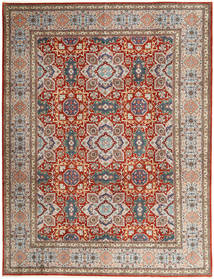 Tabriz 50 Raj Rug 302X393 Authentic  Oriental Handknotted Light Brown/Light Grey Large (Wool, Persia/Iran)