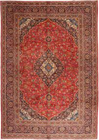 Keshan Rug 303X425 Authentic  Oriental Handknotted Dark Red/Rust Red/Dark Brown Large (Wool, Persia/Iran)