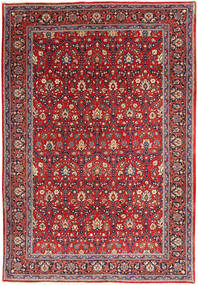 Varamin Rug 209X308 Authentic  Oriental Handknotted Brown/Rust Red (Wool, Persia/Iran)