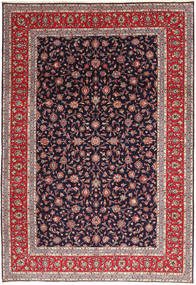Keshan Rug 245X355 Authentic  Oriental Handknotted Dark Purple (Wool, Persia/Iran)