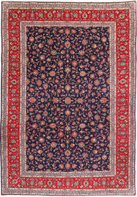 Keshan Rug 244X354 Authentic  Oriental Handknotted Dark Purple (Wool, Persia/Iran)