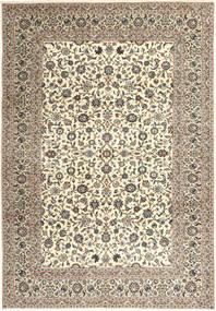 Kashan Covor 249X358 Orientale Lucrat Manual Bej/Gri Închis/Maro Deschis (Lână, Persia/Iran)