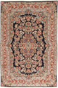Kerman Matto 155X243 Itämainen Käsinsolmittu Ruskea/Tummansininen (Villa, Persia/Iran)