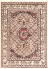 Moud Rug 177X248 Authentic  Oriental Handknotted Light Brown/Beige (Wool/Silk, Persia/Iran)