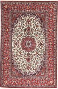 Isfahan Jedwabna Osnowa Dywan 155X240 Orientalny Tkany Ręcznie Ciemnoczerwony/Jasnoszary (Wełna/Jedwab, Persja/Iran)
