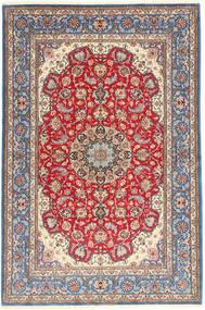 イスファハン 絹の縦糸 絨毯 152X227 オリエンタル 手織り 薄紫色/茶 (ウール/絹, ペルシャ/イラン)