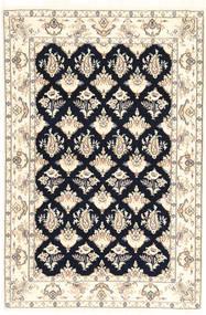 Nain 6La Matto 110X167 Itämainen Käsinsolmittu Beige/Tummansininen (Villa/Silkki, Persia/Iran)