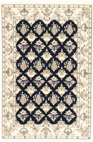 Nain 6La Rug 110X167 Authentic  Oriental Handknotted Beige/Light Grey (Wool/Silk, Persia/Iran)