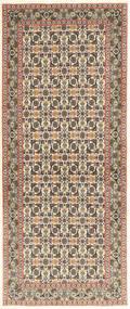 Tabriz 50 Raj Matta 82X205 Äkta Orientalisk Handknuten Hallmatta Ljusbrun/Beige (Ull/Silke, Persien/Iran)