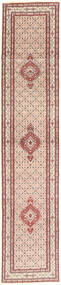 Moud Rug 78X395 Authentic  Oriental Handknotted Hallway Runner  Light Pink/Light Brown (Wool/Silk, Persia/Iran)