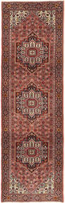 Gholtogh Rug 87X297 Authentic  Oriental Handknotted Hallway Runner  Brown/Dark Brown (Wool, Persia/Iran)
