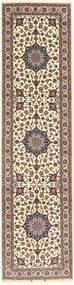 Isfahan Urdimbre De Seda Alfombra 75X303 Oriental Hecha A Mano Gris Claro/Beige (Lana/Seda, Persia/Irán)