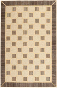 Kelim Patchwork Teppich  195X296 Echter Moderner Handgewebter Dunkel Beige/Beige (Wolle, Persien/Iran)