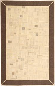 Kilim Patchwork Rug 196X299 Authentic  Modern Handwoven Beige/Brown (Wool, Persia/Iran)