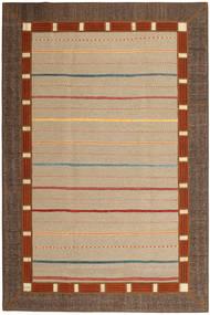 Kilim Patchwork Rug 199X300 Authentic  Modern Handwoven Dark Beige/Brown (Wool, Persia/Iran)