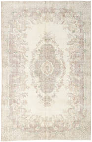 Colored Vintage Rug 199X303 Authentic  Modern Handknotted Beige/Light Grey (Wool, Turkey)