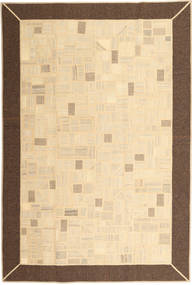 Kilim Patchwork Rug 197X297 Authentic  Modern Handwoven Beige/Brown (Wool, Persia/Iran)