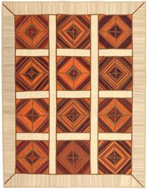 Kelim Patchwork Tæppe 191X245 Ægte Moderne Håndvævet Rust/Lyserød (Uld, Persien/Iran)