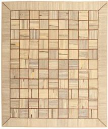 Kelim Patchwork Vloerkleed 214X253 Echt Modern Handgeweven Donkerbeige/Lichtbruin (Wol, Perzië/Iran)