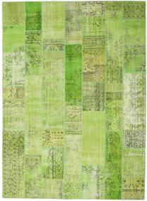 Patchwork Matto 253X350 Moderni Käsinsolmittu Vaaleanvihreä/Vihreä Isot (Villa, Turkki)