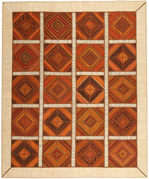 Kilim Patchwork Rug 249X304 Authentic  Modern Handwoven Rust Red/Beige (Wool, Persia/Iran)