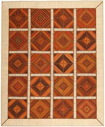 Kelim Patchwork Matto 249X304 Moderni Käsinkudottu Ruoste/Beige (Villa, Persia/Iran)