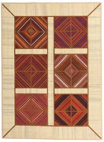 Kelim Patchwork Matto 149X203 Moderni Käsinkudottu Tummanpunainen/Beige (Villa, Persia/Iran)
