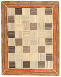 Kilim Patchwork Rug 155X195 Authentic  Modern Handwoven Beige/Brown/Dark Beige (Wool, Persia/Iran)
