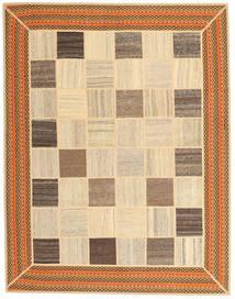 Kelim Patchwork Teppich  155X195 Echter Moderner Handgewebter Beige/Braun/Dunkel Beige (Wolle, Persien/Iran)