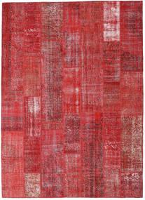 パッチワーク 絨毯 253X352 モダン 手織り 深紅色の/赤/錆色 大きな (ウール, トルコ)
