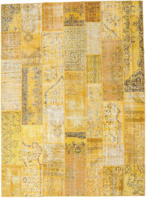 Patchwork Rug 275X371 Authentic  Modern Handknotted Yellow/Light Brown Large (Wool, Turkey)
