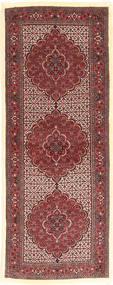 Bidjar Silkillä Matto 75X205 Itämainen Käsinsolmittu Käytävämatto Ruskea/Tummanruskea (Villa/Silkki, Persia/Iran)