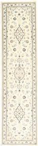 Nain 9La Matto 85X352 Itämainen Käsinsolmittu Käytävämatto Beige/Tummanbeige (Villa/Silkki, Persia/Iran)