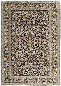 カシャン 絨毯 303X416 オリエンタル 手織り 薄茶色/濃い紫 大きな (ウール, ペルシャ/イラン)