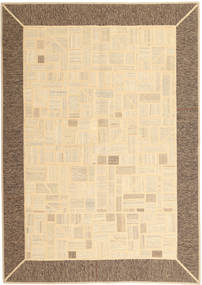 Kilim Patchwork Rug 169X239 Authentic  Modern Handwoven Beige/Brown (Wool, Persia/Iran)