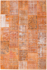 Patchwork Rug 202X302 Authentic  Modern Handknotted Light Brown/Orange (Wool, Turkey)