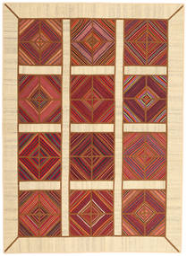 Kilim Patchwork Rug 172X235 Authentic Modern Handwoven Beige/Rust Red (Wool, Persia/Iran)
