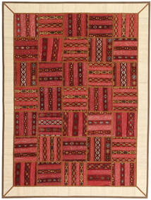 Kilim Patchwork Rug 178X237 Authentic  Modern Handknotted Dark Red/Rust Red/Beige (Wool, Persia/Iran)