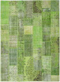 Patchwork Rug 272X373 Authentic  Modern Handknotted Light Green/Green  Large (Wool, Turkey)
