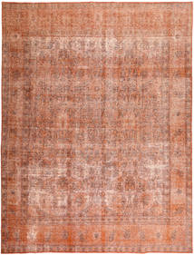 Colored Vintage Rug 295X387 Authentic  Modern Handknotted Brown/Light Brown/Light Pink Large (Wool, Pakistan)