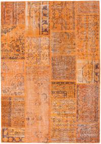パッチワーク 絨毯 160X231 モダン 手織り オレンジ/薄茶色 (ウール, トルコ)