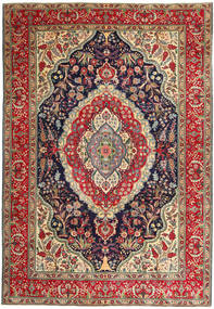 Tabriz Patina Rug 247X360 Authentic  Oriental Handknotted Brown/Purple (Wool, Persia/Iran)
