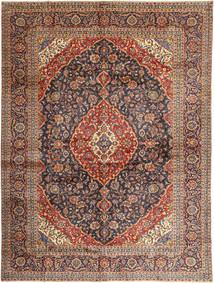 Keshan Rug 297X395 Authentic  Oriental Handknotted Dark Red/Dark Grey Large (Wool, Persia/Iran)