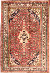 Hamadan Rug 200X295 Authentic  Oriental Handknotted Brown/Light Brown (Wool, Persia/Iran)