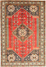 Shiraz Rug 203X300 Authentic  Oriental Handknotted Brown/Light Brown (Wool, Persia/Iran)