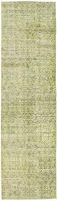 カラード ヴィンテージ 絨毯 81X291 モダン 手織り 廊下 カーペット ライトグリーン/暗めのベージュ色の (ウール, トルコ)